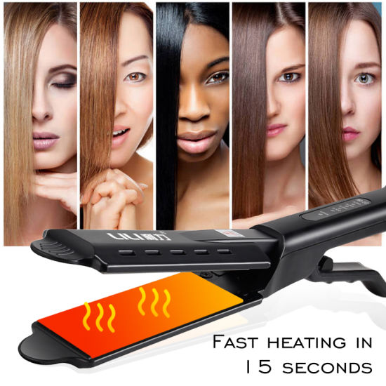 Beauty Salon Dry Wet Dual Purpose Professional Fast Steam Straightener Hair Salon Special Ceramic Straightener Flat Iron