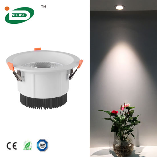 2020 New Design Full Power Matt White LED Recessed Drop Aluminium LED Downlight