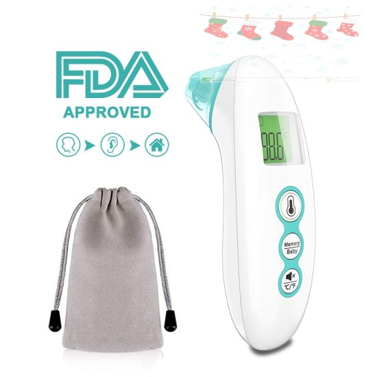 Baby Forehead Ear Thermometer Infrared Electronic Thermometer with Memory Recall Digital Thermometer for Kids Adults Surface and Room