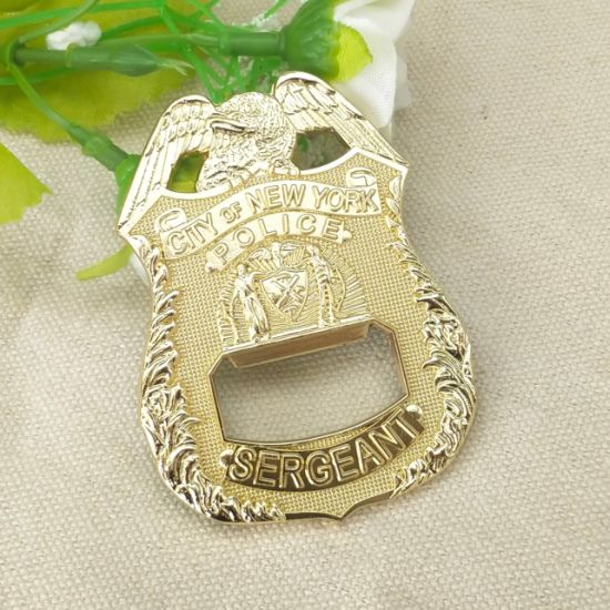 Custom Metal Art Craft 3D Us Eagle Logo Plated Gold Beer Bottle Opener for Promotional Gift