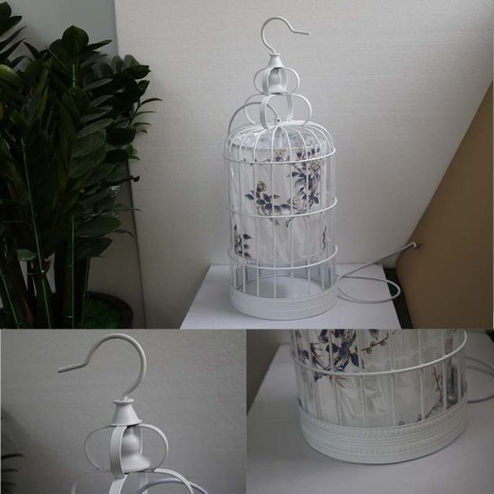 Antique Hotel Decorative White Metal Cage Pendant Lamp pictures & photos