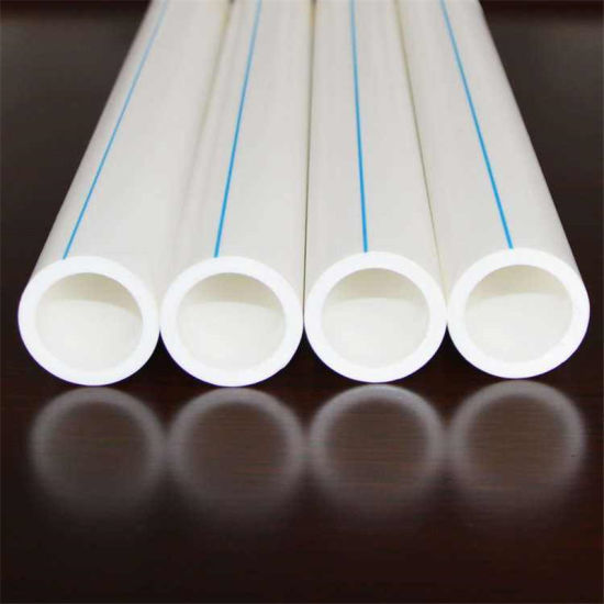 White PPR Pipe with Red/Blue Line Plastic Pipe for Hot Water & China White PPR Pipe with Red/Blue Line Plastic Pipe for Hot Water ...