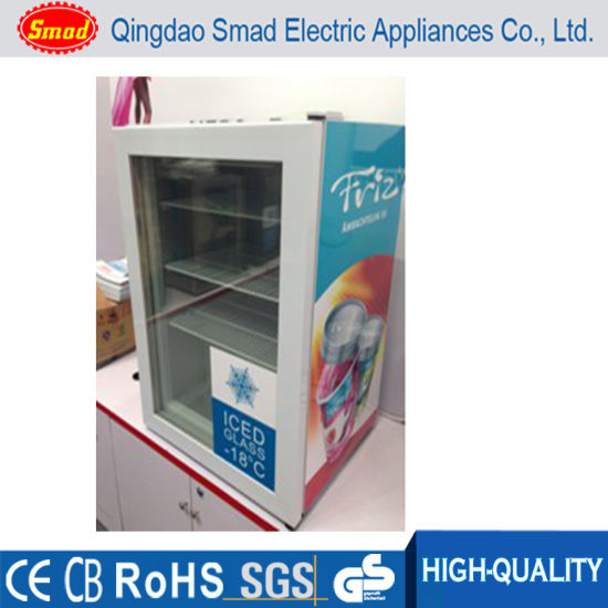 China Smad Single Glass Door Countertop Freezer Display Freezer