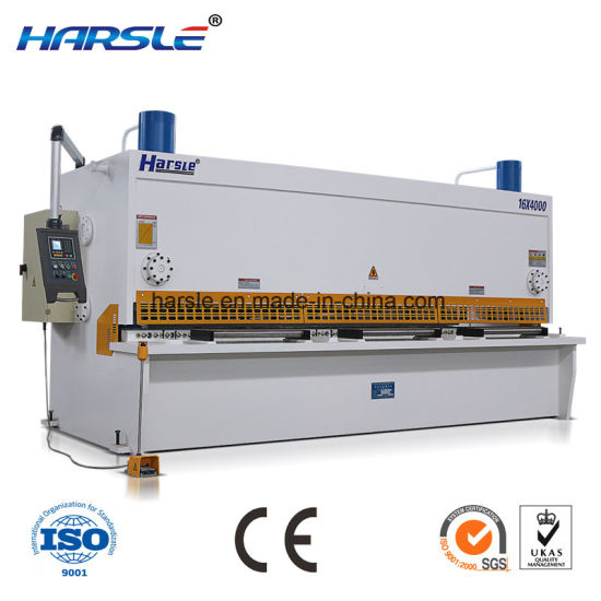 CNC Hydraulic Sheet Metal Shearing Machine From Factory pictures & photos