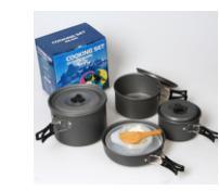 Portable Camping Outdoor Picnic Pot, Camping Cookware, Camping Cooking Set