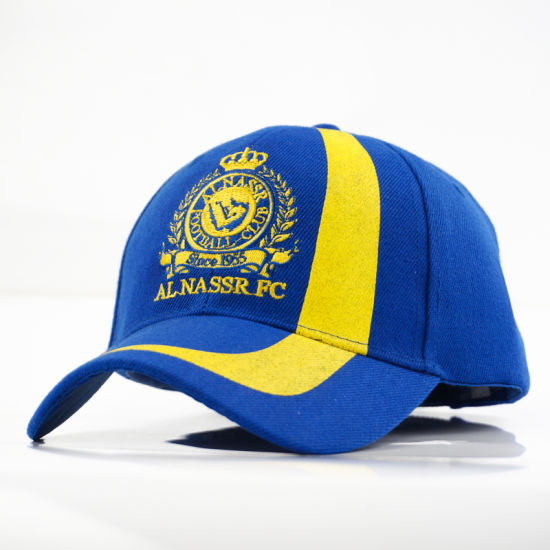 Flat Embroidery Cotton Baseball Hats with Velcro Buckle