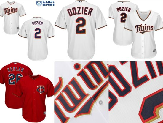 9c957913250 China Minnesota Twins Brian Dozier Max Kepler Baseball Jerseys ...