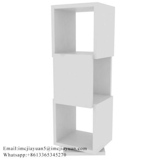 China Wooden Children Cube Speaker Bookshelf Rotate Book Shelf