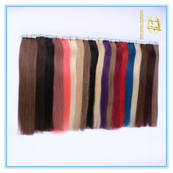 Customized Color High Quality Double Drawn Tape Hairs Extension Hairs with Factory Price Ex-049 pictures & photos