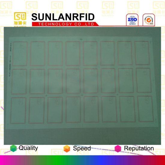 Free Samples High Quality 3X8 Layout FM1108 Chip RFID Card Inlay with Factory Price pictures & photos