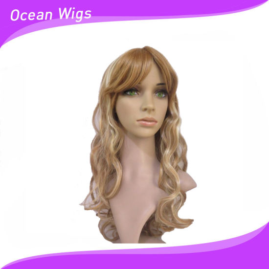 Longer Wavy Style Synthetic Wig at Different Color pictures & photos