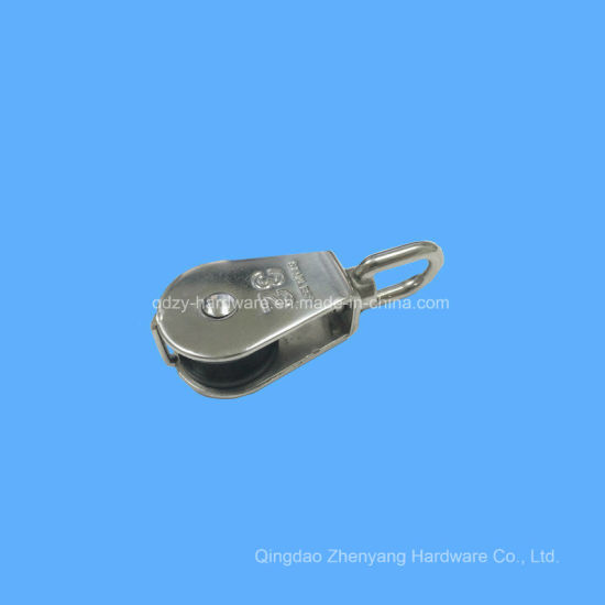 Stainless Steel Block with Single Nylon Sheave Pulley