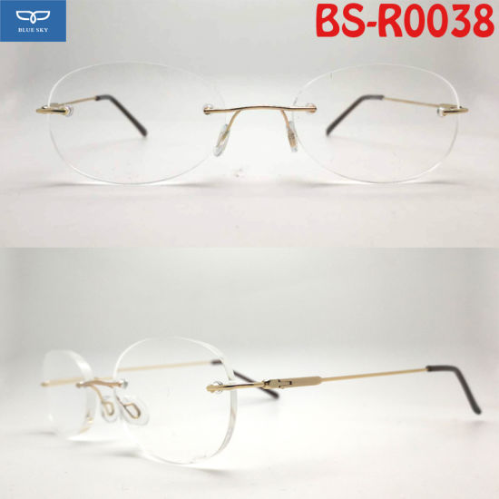 626124b15c22 OEM Copper Stainless Steel Material New Design Rimless Reading Glasses  Frameless Spectacles with Super Slim Temple Cheap Price. Get Latest Price