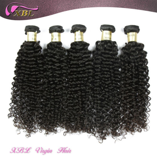 Kinky Curly Wholesale Pure Indian Remy Virgin Human Hair Weft