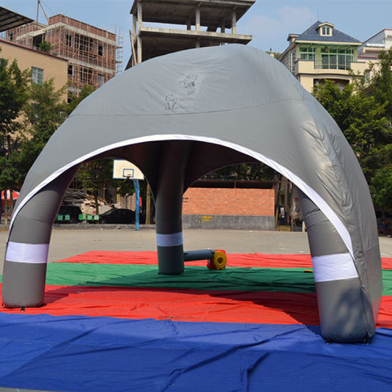 Small Inflatable Gray Camping Tent for Show