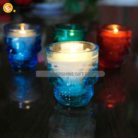 Simple Style Frosting White Color Glass Candle Holders pictures & photos
