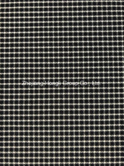 Stretch Polyester Cationic Checks Fabric for Garment