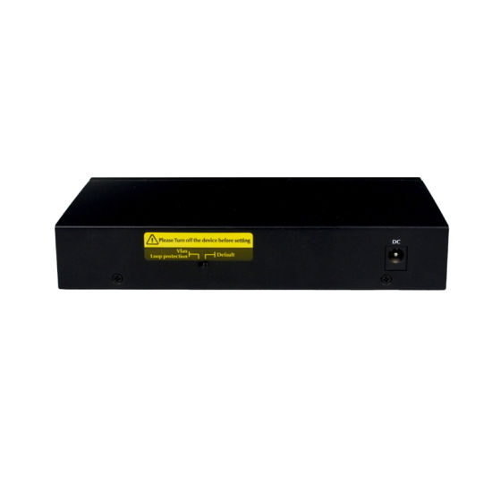 4 Port Giga Poe Network Switch with 2 Uplink Interface Support One Key Vlan Function (TS0604G) pictures & photos