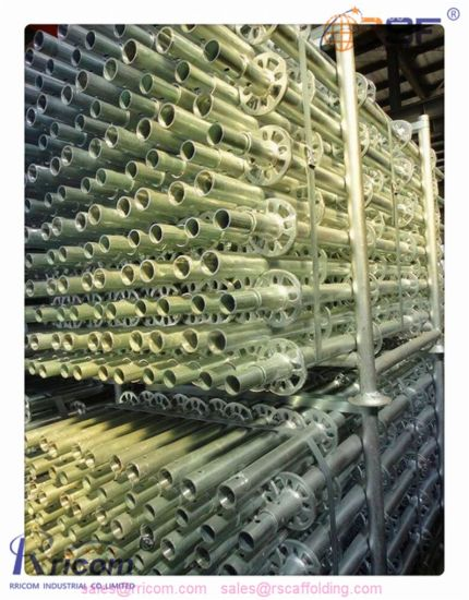 High Quanlity Best Prices Steel Scaffolding in Ringlock Type Scaffolding pictures & photos