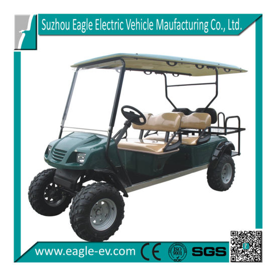 China Electric Golf Car, 6 Seat Lifted, High Rise Chassis Frame ...