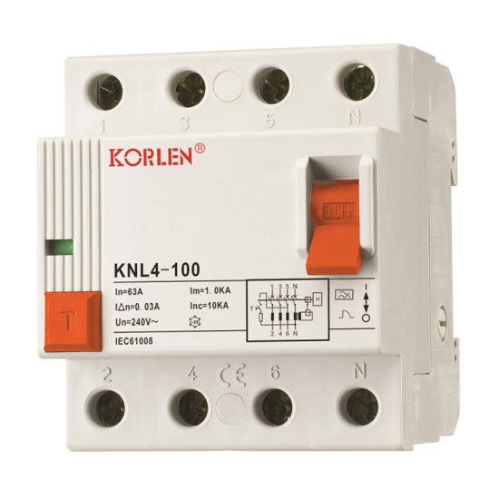 (KNL4-100) Residual Current Circuit Breaker pictures & photos