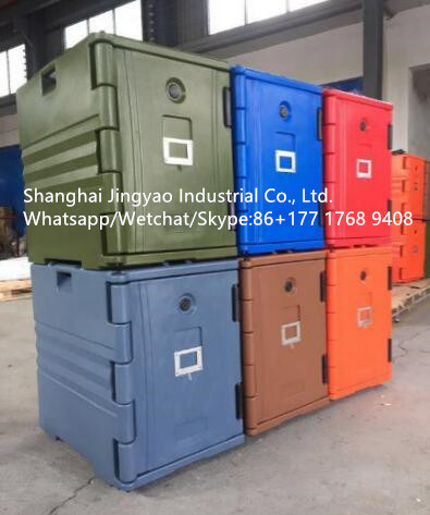 China Mobile Food Warm Cabinet with Wheels Hot Food Storage