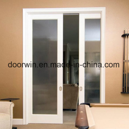 China Simple Fashion Home Interior Doors Double Glass Sliding Pocket