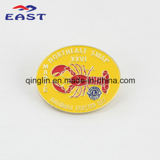 Painting Round Shape Metal Lapel Pin and Badge for Event pictures & photos
