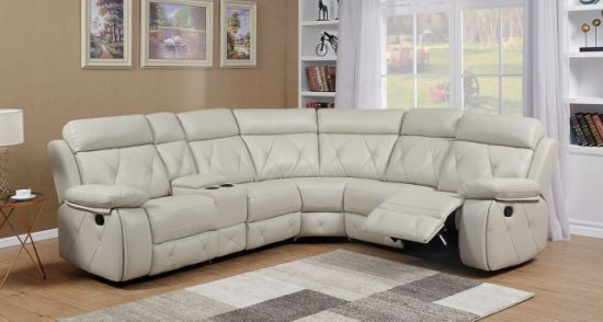 Sectional Recliner Sofa With Leathe Air