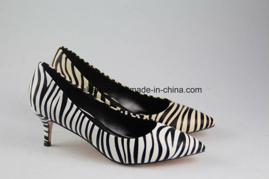 New Arrival Lady Shoes High Heels with Zebra-Stripe pictures & photos