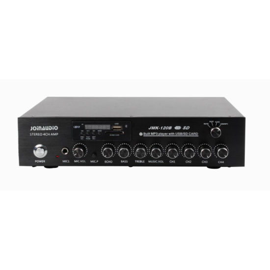 4 Channel Stereo Amplifier Home Amplifier with MP3 Player (JMK-120B)