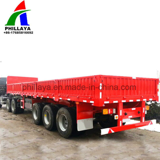 3 Axle Flatbed Cimc Truck Semi Trailer for Sale pictures & photos