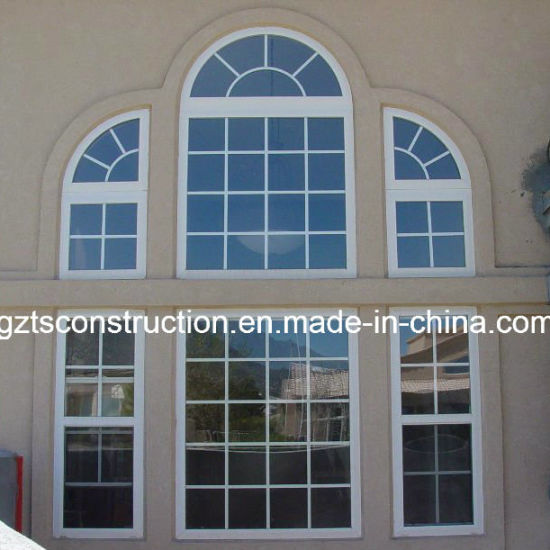 China europe style pvc arch window with double glazing for European style windows