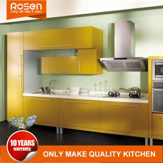 China PVC Furniture for Kitchen Cabinet Yellow Design Online - China ...