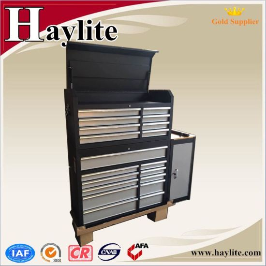 China Black Powder Coating Steel Tool Cabinet With Drawers
