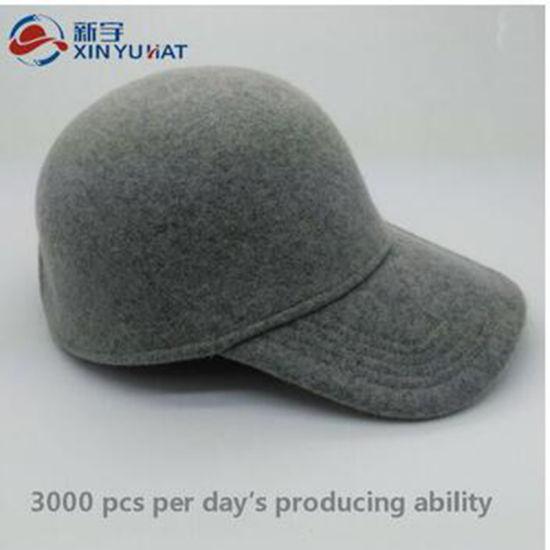 62fbd32bc796b China Top Quality Hot Sale Wool Baseball Cap - China Wool Felt Hat ...