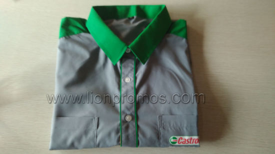 Petrol Company Castrol Customized Staff Short Sleeve Officer Shirt pictures & photos