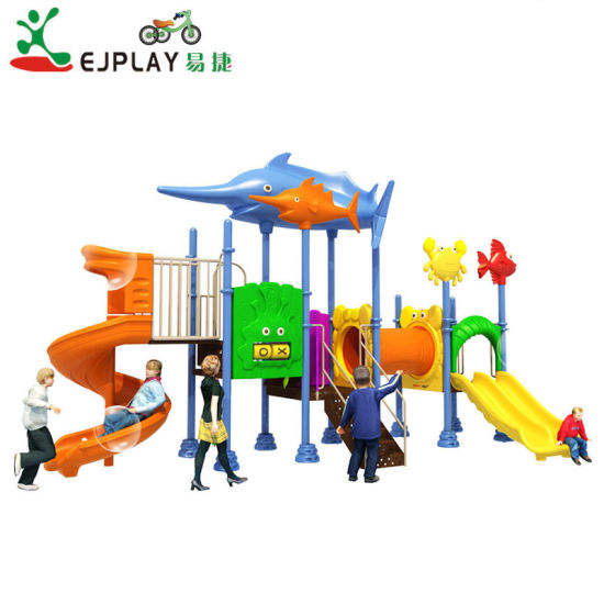 2018 Updated Design Plastic Outdoor Playground for Park