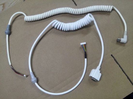 Coiled White Cable for Hospital Bed pictures & photos