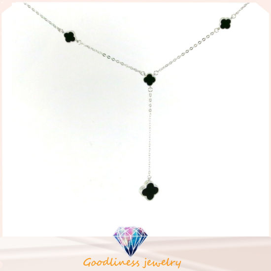 Wholesale Simple Style Sterling Silver Clover Necklace