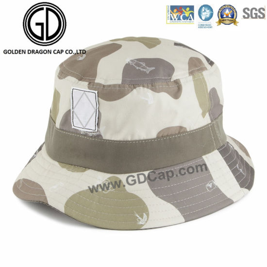 e9d987ce1a0632 New Fashion Design Cowboy Camo Bucket Hat with Fish Printed pictures &  photos