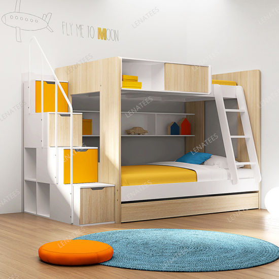 Bd-501b New OEM Design Bunk Bed with Drawers Stair Case pictures & photos