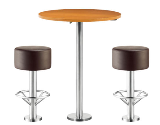 Fix to Floor Furniture Set Bistro Bar Stool Table Chair