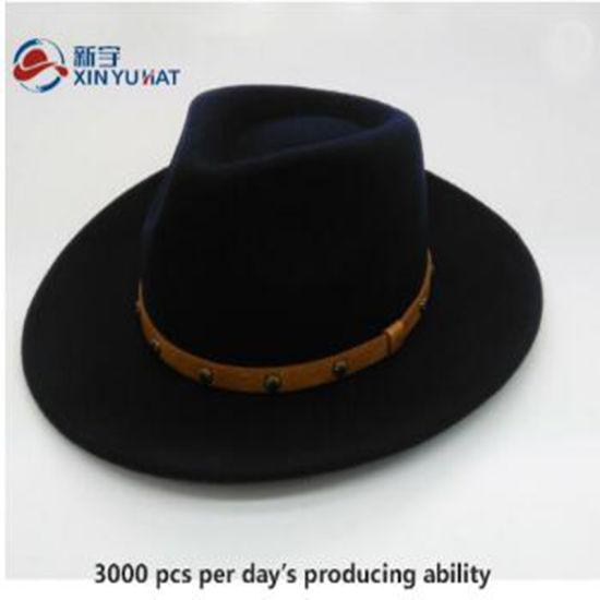 High Quality Wool Felt Homburg Hat 100% Wool
