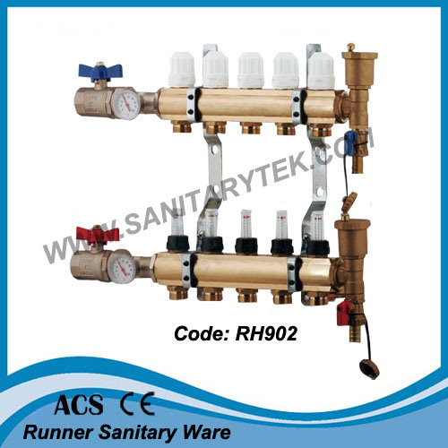Brass Manifold for Floor Heating System (RH902) pictures & photos