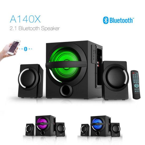 f195aff67 New Arrival 2.1 HiFi Home Audio Home Theater Subwoofer LED Color Light  Bluetooth Speaker Manufacturer