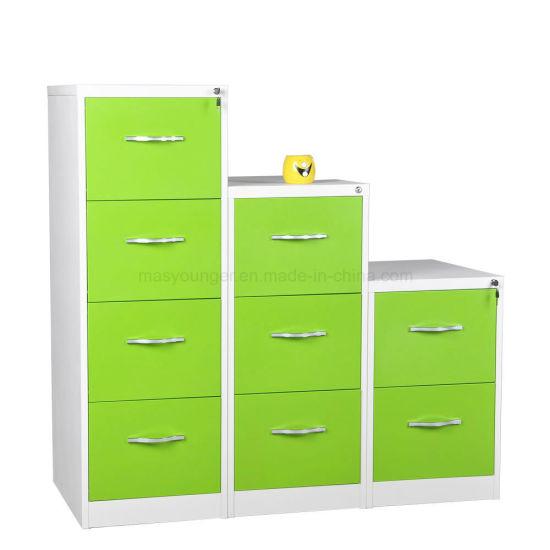 Wholesale 3 Drawer Metal Full Extension Safe Bedside Desk Use Steel File Storage Cabinet with Lock