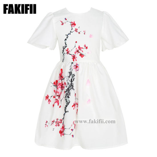 2021 Fashion Spring/Summer OEM Children Apparel Kid/Girl Clothing Baby Clothes Flower Dress
