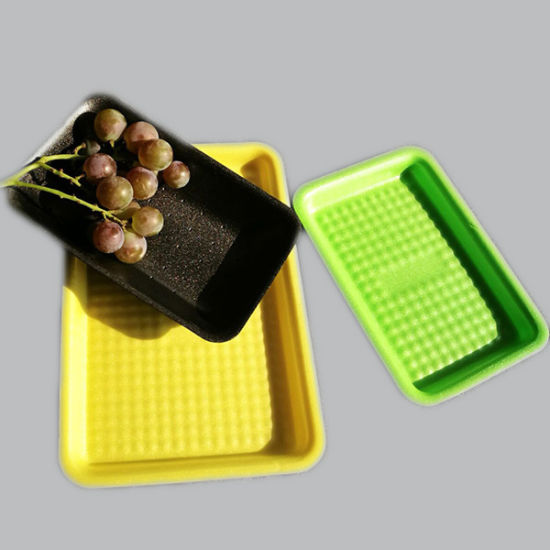 Suitable for Fruit Meat Customed Eco-Friendly Nonhazardous Packing Foaming PLA Food Grade Tray