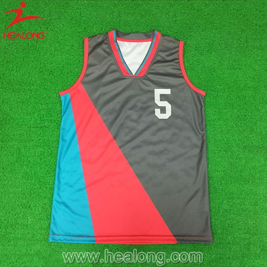 e388586f796 Healong Heat Transferred Dri Fit Basketball Uniforms Men pictures & photos